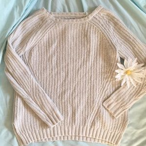 American Eagle Knitted White Sweater - Size S